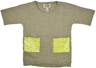Autumn Cashmere Sequin Pocket Top in Grey