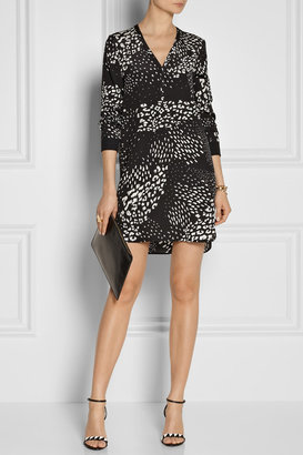 Tibi Animal-print silk dress