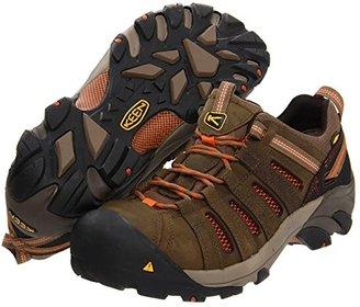 Keen Flint Low Steel Toe (Shitake/Rust) Men's Work Lace-up Boots
