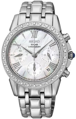 Seiko Women's Le Grand Sport Stainless Steel Solar Chronograph Watch - SSC893 $575 thestylecure.com