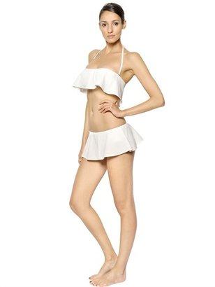 Chloé Ruffled Lycra Bandeau Bikini