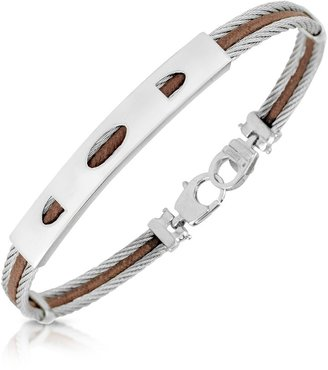 Forzieri Stainless Steel Bracelet with Plaque