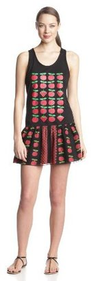 Anna Sui Women's Apples and Strawberries Tank Dress