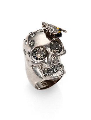Alexander McQueen Bee & Skull Cocktail Ring