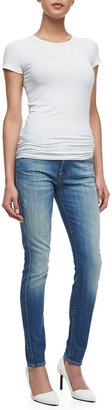 7 For All Mankind The Skinny Bright Light Broken Jeans