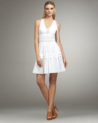 Roberto Cavalli Lace-Inset Dress