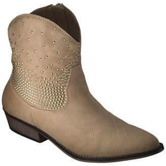 Mossimo Women's Kayde Studded Western Boot - Tan