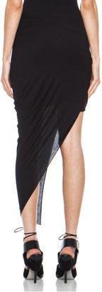Helmut Lang Asymmetrical Wrap Modal-Blend Skirt