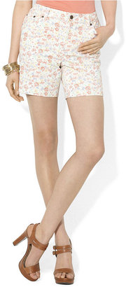 Lauren Ralph Lauren Shorts, Floral-Print Denim