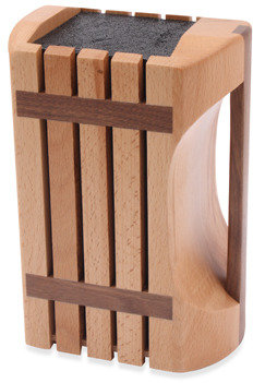 Kapoosh Kapoosh™ Designer Beachwood Knife Block with Handle