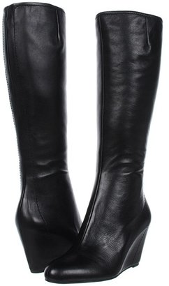 Via Spiga Alicia (Black/Black Nappa Calf Leather) - Footwear