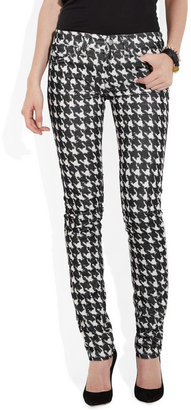 Etoile Isabel Marant Iti dogtooth fine-corduroy skinny jeans