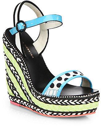 Webster Sophia Lucita Braided Wedge Sandal