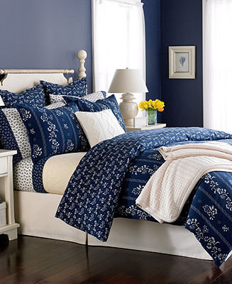 Martha Stewart CLOSEOUT! Collection Bedding, Shadow Trail Flannel Twin Duvet Cover
