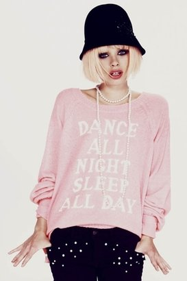 Wildfox Couture Dance All Night Pfeiffer Sweater in Neon Sign