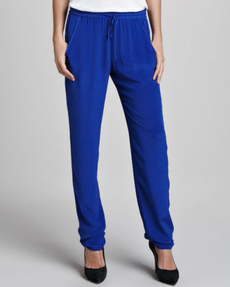 French Connection Chelsea Silk Drawstring Pants