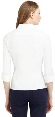Brooks Brothers Cotton Stretch Fly Front Three-Quarter Sleeve Shirt