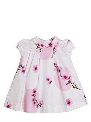 Simonetta Polka Dot And Flower Cotton Dress