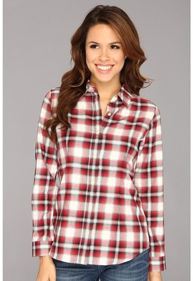 Pendleton Favorite Plaid Flannel Shirt (Ivory/Red/Black Plaid) - Apparel