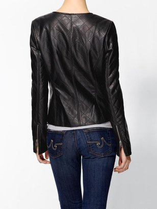 Vince Tinley Road Quilted Vegan Leather Jacket