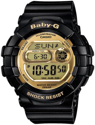Baby-G Watch, Women's Digital Black Resin Strap 46x42mm BGD141-1