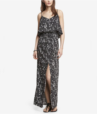Express Printed Ruffle Top Maxi Dress