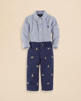 Ralph Lauren Infant Boys' Button Down Shirt and Chino Pants Set - Sizes 9-24 Months
