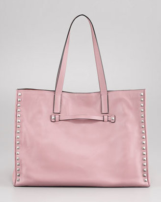 Valentino Rockstud Medium Tote Bag, Pop Gardenia