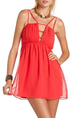 Charlotte Russe Ruched Bust Strappy Dress