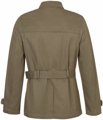 Topman Khaki Double Breasted Cropped Trench Coat