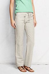 Lands' End Women's Linen Pants-White $69 thestylecure.com