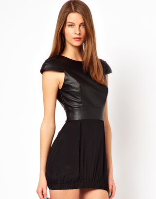 Naven Faux Leather Party Dress