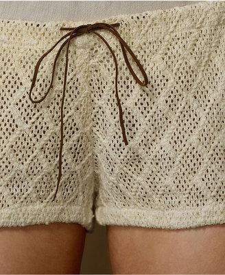 Denim & Supply Ralph Lauren Shorts, Open-Knit Drawstring