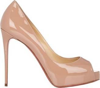 Christian Louboutin Women's New Very Prive Pumps-NUDE $795 thestylecure.com