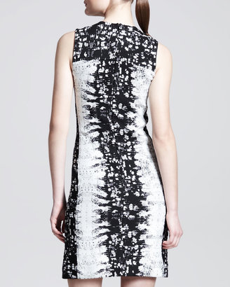 Reed Krakoff Paneled Abstract-Print Sheath Dress