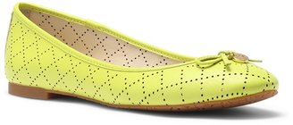 C. Wonder Nappa Leather Perforated Ballet Flat