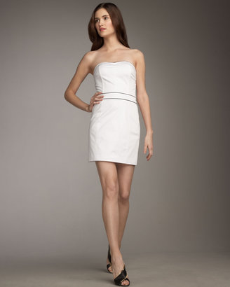 2 B Rych Strapless Contrast-Piping Dress