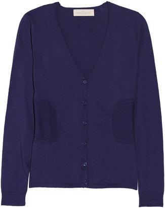 Cacharel Cotton and cashmere-blend jersey cardigan