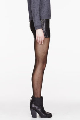 J Brand READY TO WEAR Black Leather snakeskin Tullia shorts