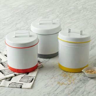west elm Enamel Canisters