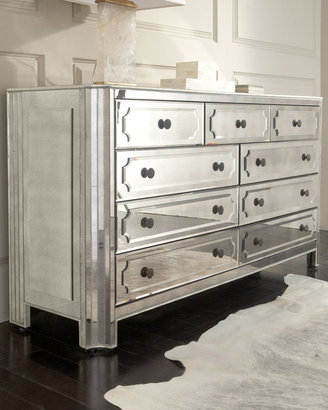 """Horchow """"Logan"""" Large Mirrored Chest"""