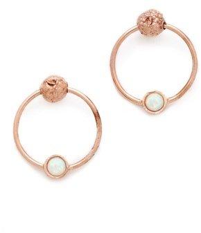 L'Agence Door Knocker Stud Earrings