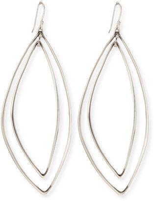 Alexis Bittar Fine Marquise Light Silver Orbit Earrings
