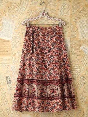 Free People Vintage Floral Printed Wrap Skirt