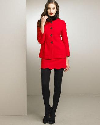 RED Valentino Valentino Red Scalloped Skirt