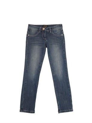 Roberto Cavalli Stone Washed Slim Fit Denim Jeans