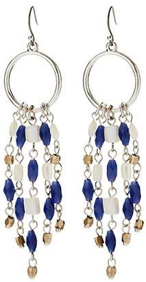 Lucky Brand Silver Hoop Earrings With Dangles