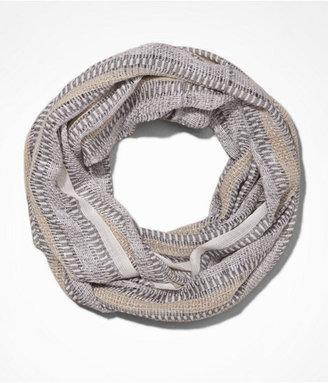 Express Woven Metallic Stripe Infinity Scarf