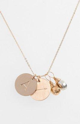 Women's Nashelle Pyrite Initial & Arrow 14K-Gold Fill Disc Necklace $138 thestylecure.com