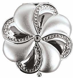 Silvertone Brass Swarovski Crystal Mirror Compact $48 thestylecure.com